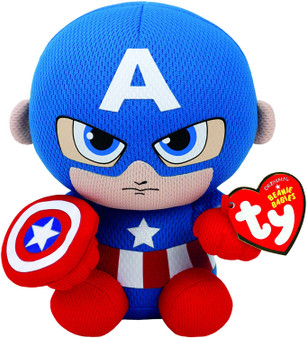 TY Marvel - Small Captain America Soft Toy