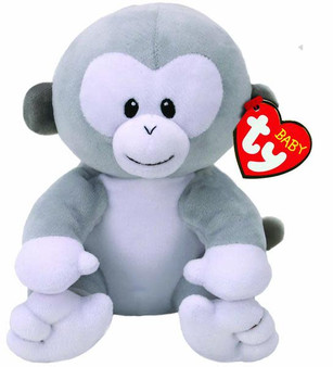 Baby TY - Small Pookie the Grey Monkey