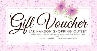 JAK Hanson Pink Gift Voucher - £25 - £100