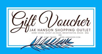 JAK Hanson Blue Gift Voucher - £25 - £100