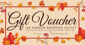 JAK Hanson Autumn Gift Voucher - £25 - £100