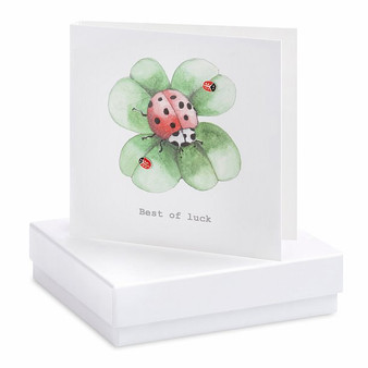 Boxed Earring Card Clover