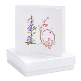 Crumble & Core - Earrings on a gift Card - Floral 16th - CE083