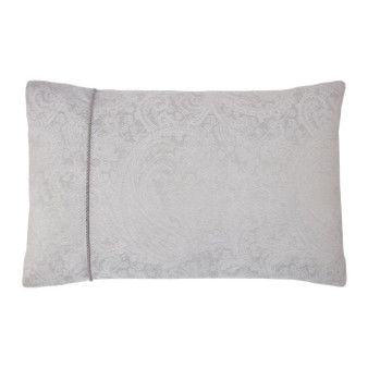 Paisley Silver Luxury Jacquard Housewife Pillowcase (Pair)