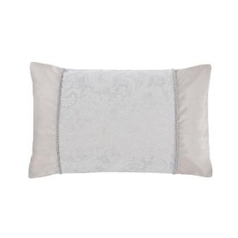 Paisley Silver Luxury Jacquard Boudoir Cushion