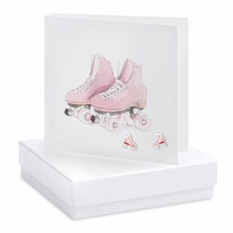 Boxed Earring Card Roller Skates