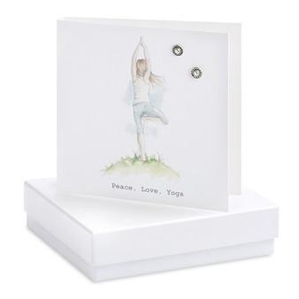 Crumble & Core - Earrings on a gift Card - Peace Love Yoga - CE138