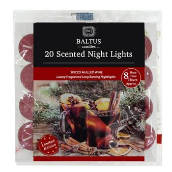 20 pack Mulled Wine 8hr burn Night-lights /Tealights