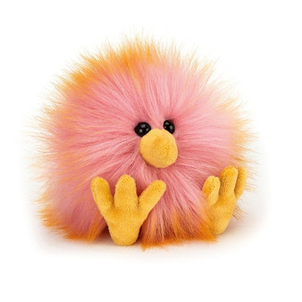 Jellycat Yellow & Pink Crazy Chick Soft Toy (RETIRED)