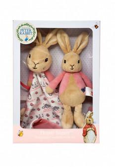 Peter Rabbit Rattle & Comfort Blanket Gift Set - Pink