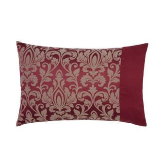 Gosford Red Damask Jacquard Luxury Housewife Pillowcases (Pair)