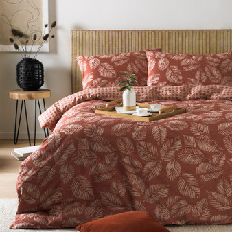 Furn - Japandi Red Clay Duvet Cover Set