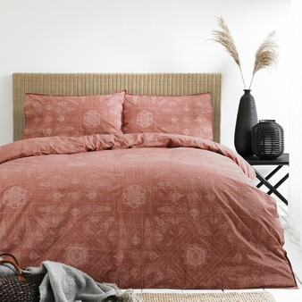 The Linen Yard - Bohemian Red Clay Duvet Set