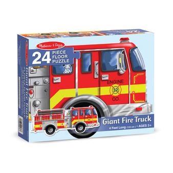 Fire Truck Giant Floor Puzzle - 24 Pieces