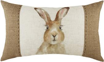 Evans Lichfield Hessian Hare Filled Boudoir Cushion