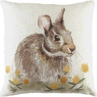 Evans Lichfield Hessian Hare Filled Square Cushion
