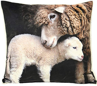 Riva Home Pattern Sherpa Lamb Filled Square Cushion