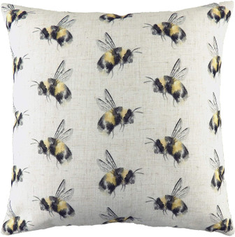 Evans Lichfield Hessian Bee You Repeat Filled Square Cushion