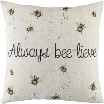 Evans Lichfield Bee-Lieve Filled Square Cushion