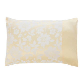Lottie Lemon Luxury Jacquard Housewife Pillowcase Pair