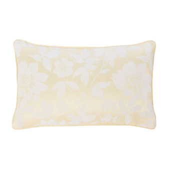 Lottie Lemon Luxury Jacquard Filled Boudoir Cushion