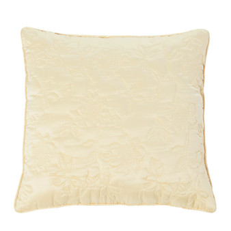 Lottie Lemon Luxury Quilted Filled Square Cushion