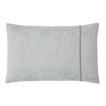 Paisley Duck Egg Luxury Jacquard Housewife Pillowcase (Pair)
