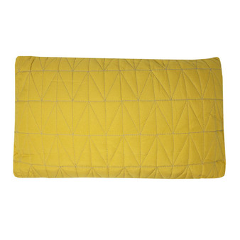 Ochre Quilted Boudoir Cushion