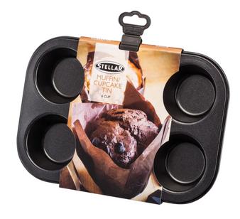 6 Cup Stellar Non-Stick Cupcake / Muffin Tin