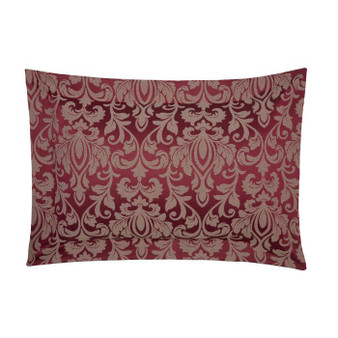 Gosford Red Damask Jacquard Luxury Oxford Pillowcases (Pair)