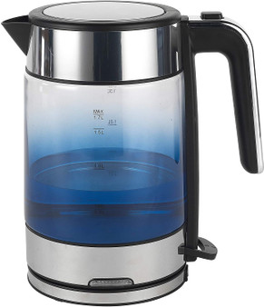 Indigo Blue 1.5 Litre Progress Ombre Glass Cordless Kettle