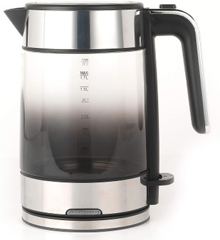 Black 1.5 Litre Progress Ombre Glass Cordless Kettle