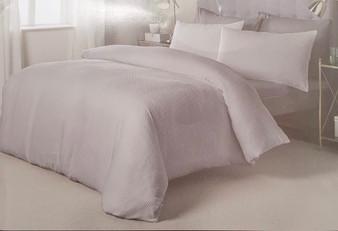 Hotel Waffle 100% Cotton Duvet Set - White - DOUBLE
