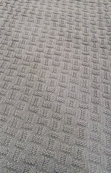 Large Riva Paoletti Throw / Blanket - Dark Grey