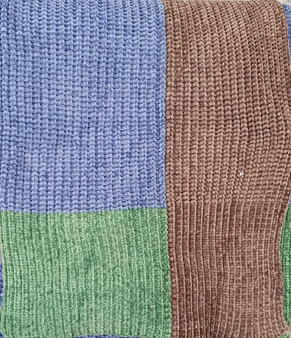 Large Riva Paoletti Throw / Blanket - Green, Blue & Brown