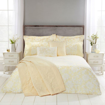 Lottie Lemon Luxury Quilted Throw - 240 X 160CM