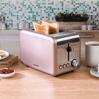 Salter Metallics Polaris Wide Slot Toaster - Champagne Edition