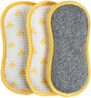 Kleeneze Pack of 3 Anti-Bac Busy Bee Cleaning Pads - 3 pack