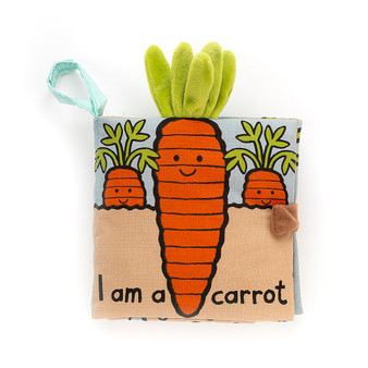 Jellycat I am a Carrot Soft Fabric Book