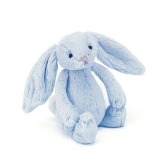 Jellycat Bashful Blue Bunny Rattle Toy