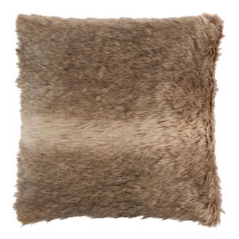 Dakota Chocolate Luxury Faux Fur Filled Square Cushion