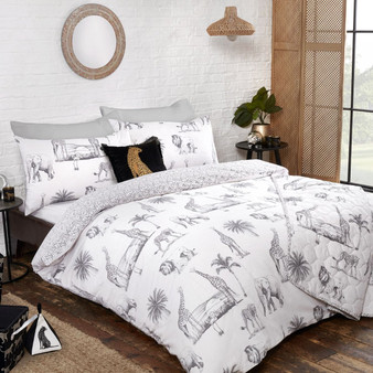 Safari Cotton Rich Reversible Duvet Set