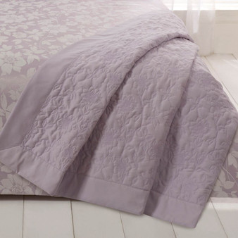 Lottie Lavender Luxury Quilted Throw - Size 240x160