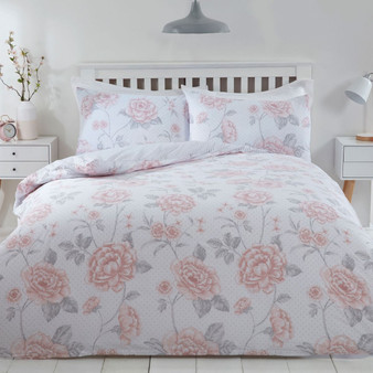 Vintage Rose Pink Duvet Set