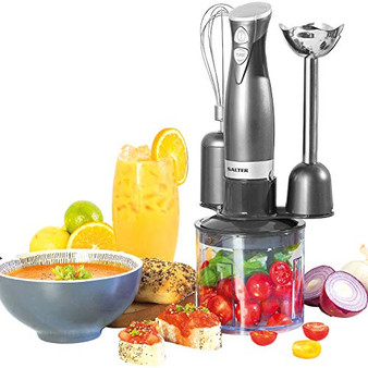 Salter® EK2827GUNMETAL Cosmos 3 in 1 Blender Set | Blend, Whisk & Chop | 500 ml Chopping Bowl | 350 W