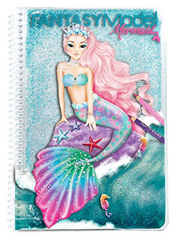 Depesche Fantasy Model Mermaid 10036 Colouring Book