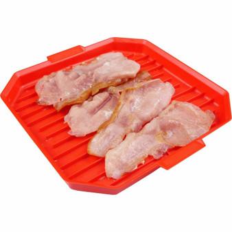 Good 2 Heat Microwave Red  Bacon Crisper