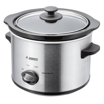 Judge JEA34R Electrical Slow Cooker 1.5L 120W with Removable Ceramic Pot, Makes Up to 2 Portions, 2 Year Guarantee