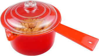 Good 2 Heat Microwave Red  600ml Saucepan with clear lid