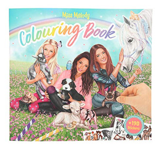 Depesche 10409 Miss Melody Animal Kids Colouring Book, Multicoloured